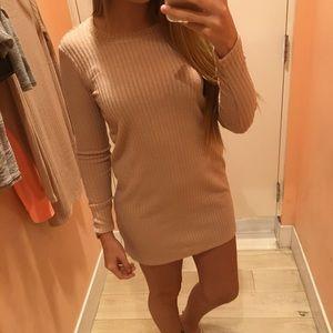Blush pink long sleeve dress